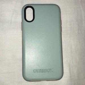 Mint green Symmetry Otterbox IPhoneX case